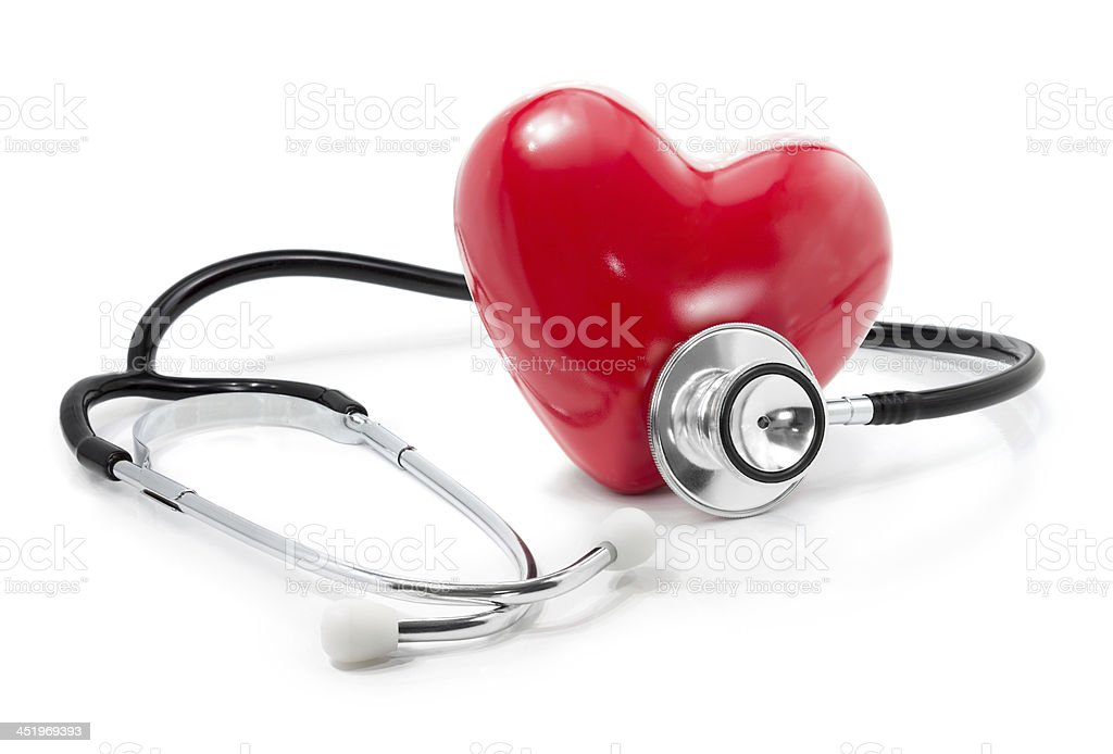 listen to your heart: health care concept stock photo