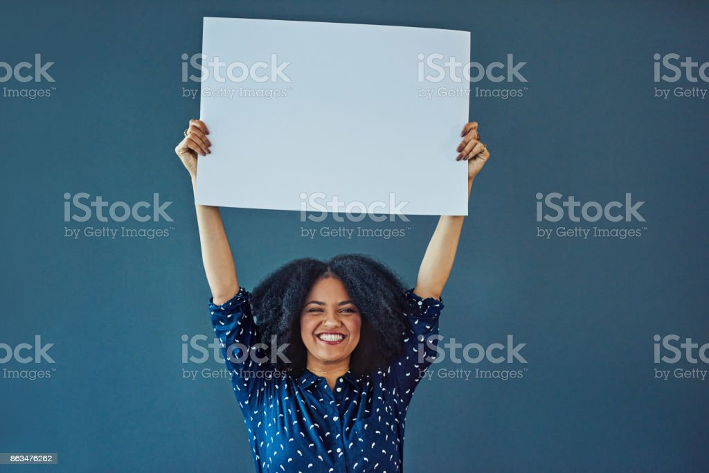 Escuchen, tengo un mensaje para usted - foto de stock