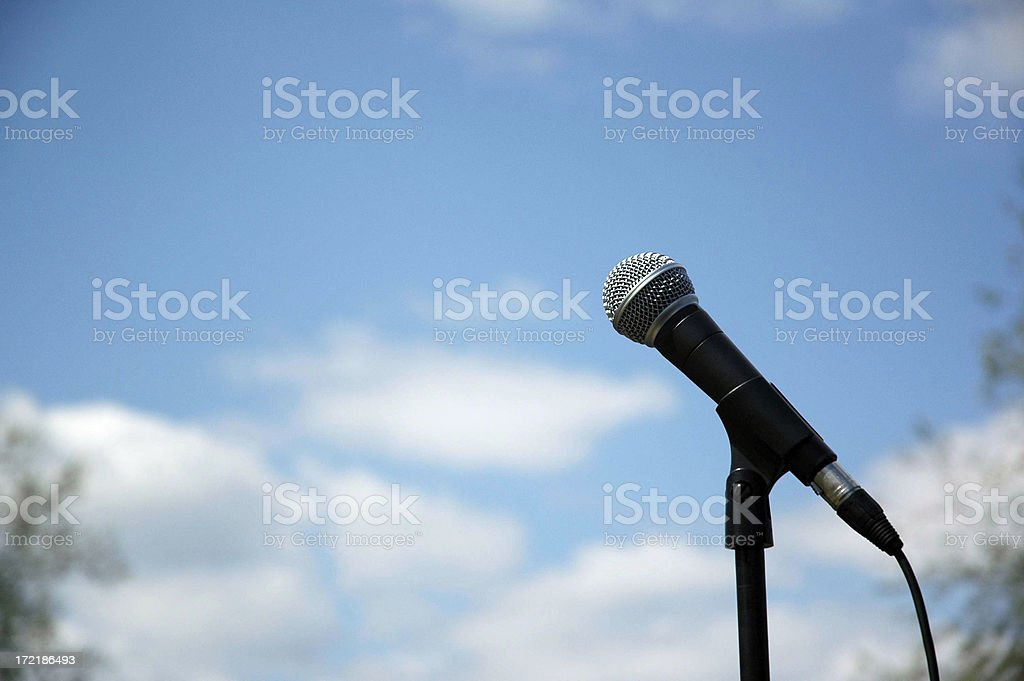 Listen Up Microphone royalty-free stock photo