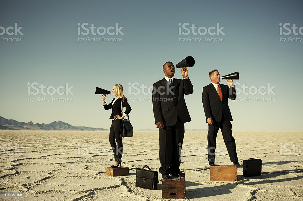Listen Up stock photo