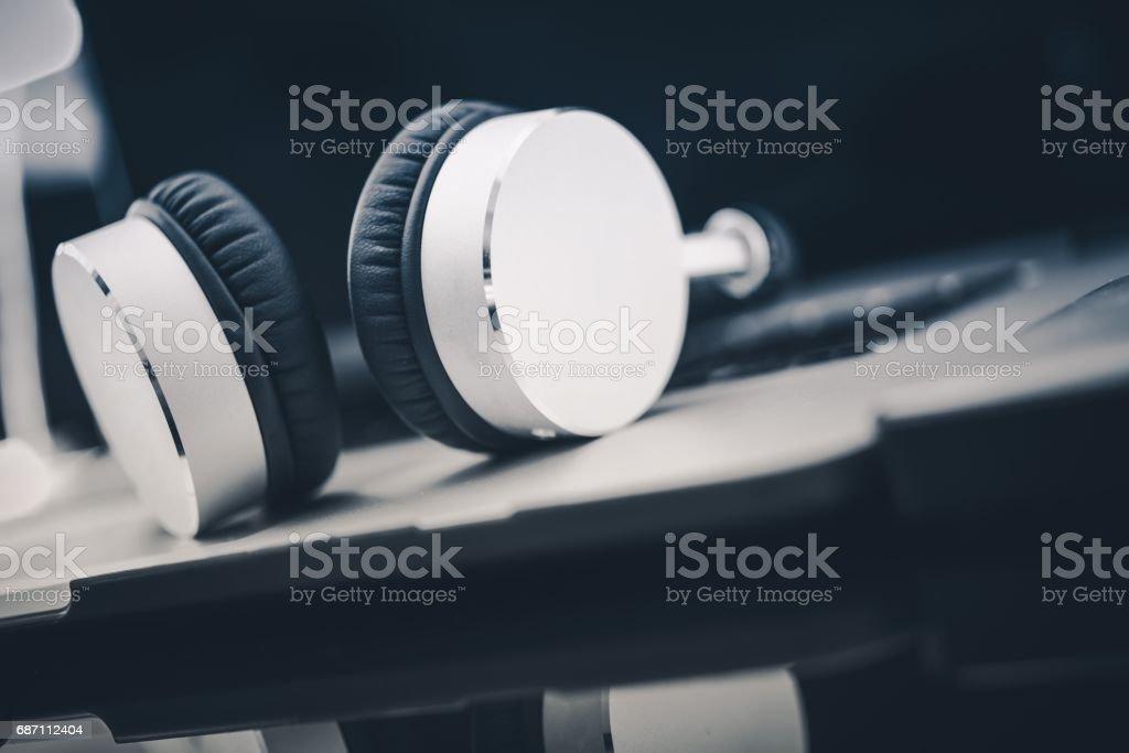 Listening Audiobooks Concept stock photo