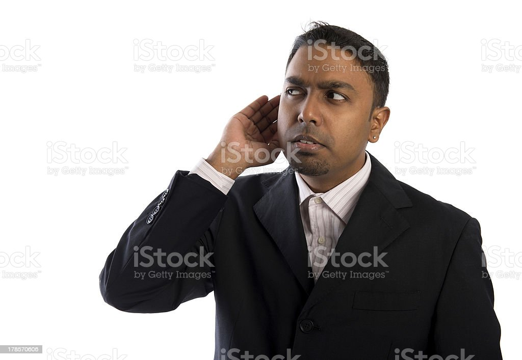 Listening ear. royalty-free stock photo