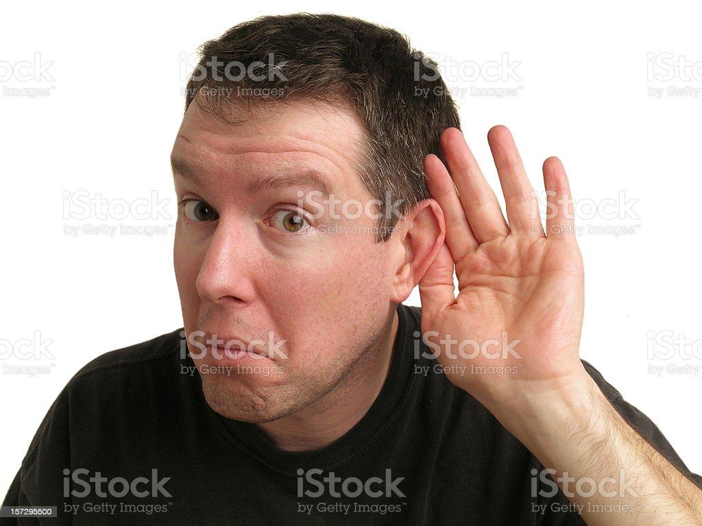Listening Guy royalty-free stock photo