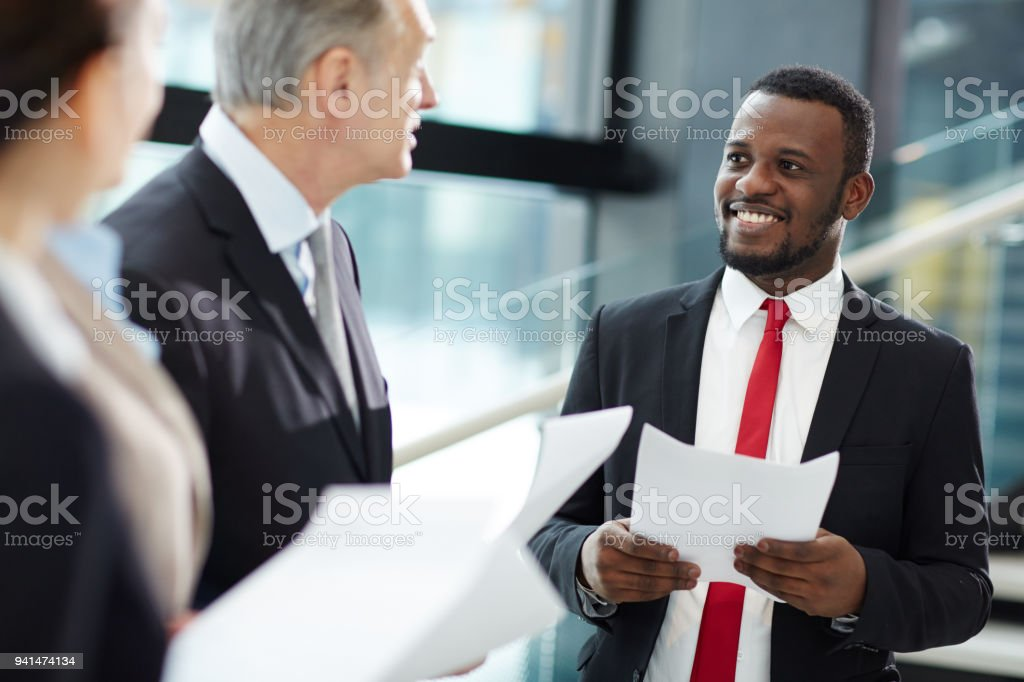 Listening to leader stock photo