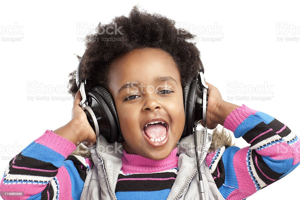 Listening to music. royalty-free stock photo