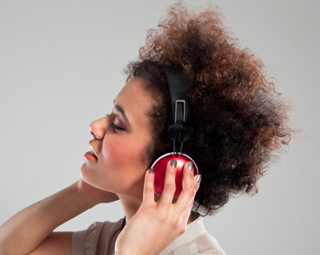 Listening To The Music Stock Photo - Download Image Now