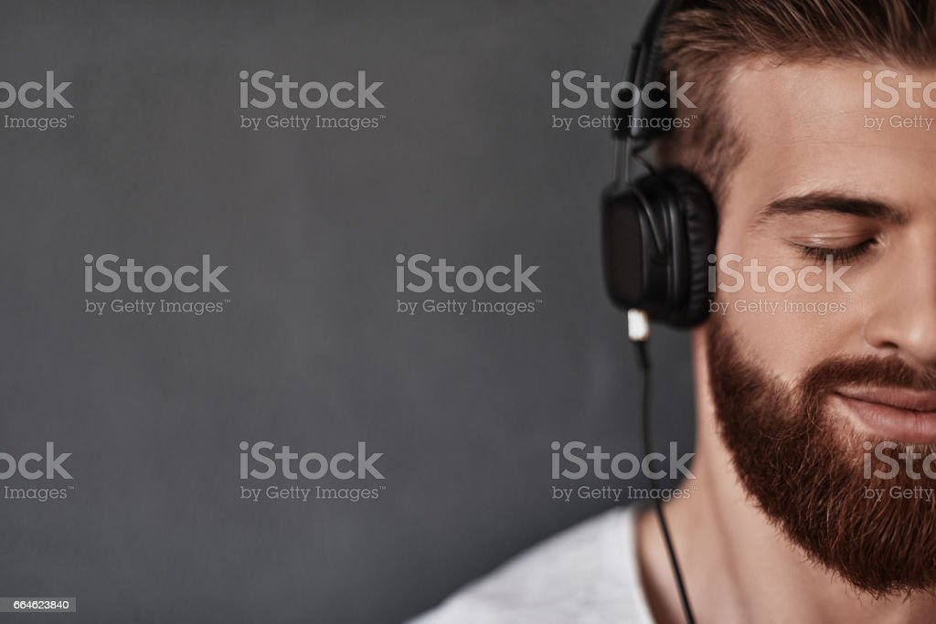 Listening with his heart. stock photo
