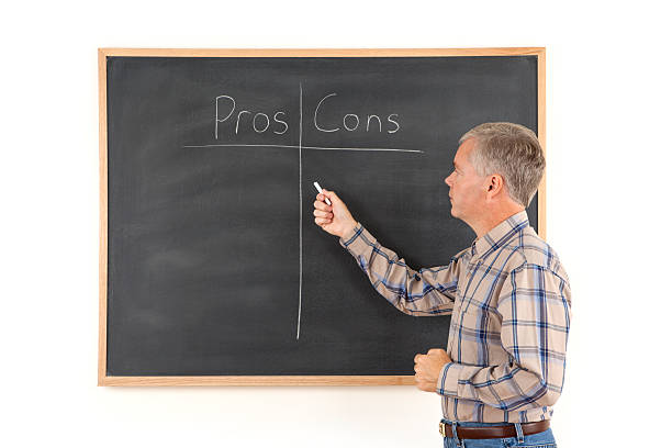 Listing the Pros and Cons stock photo