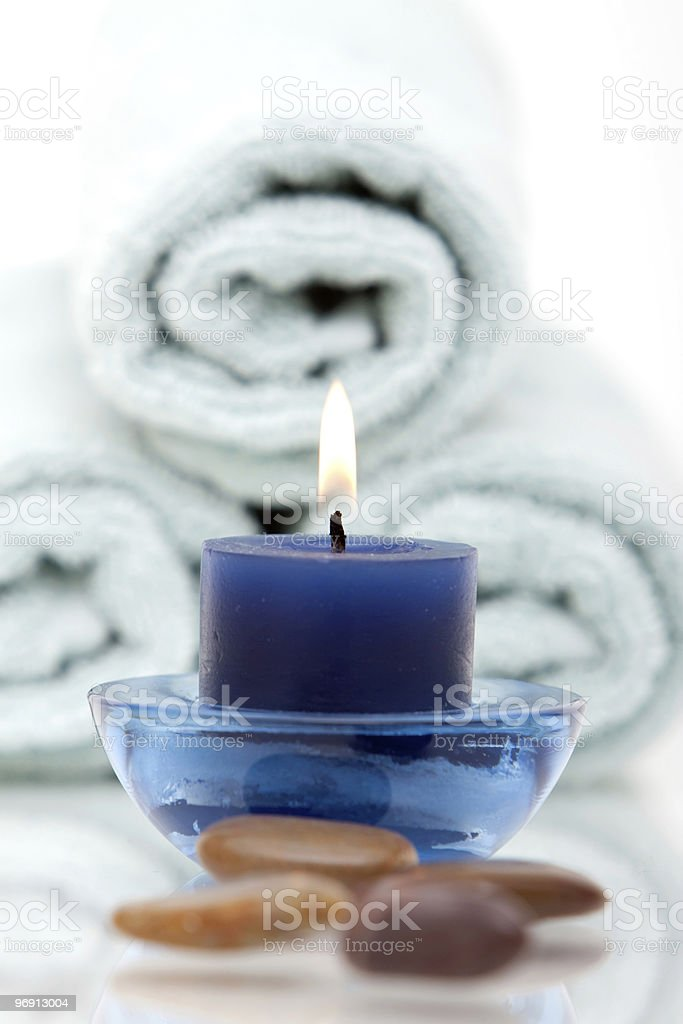 Lit candle royalty-free stock photo