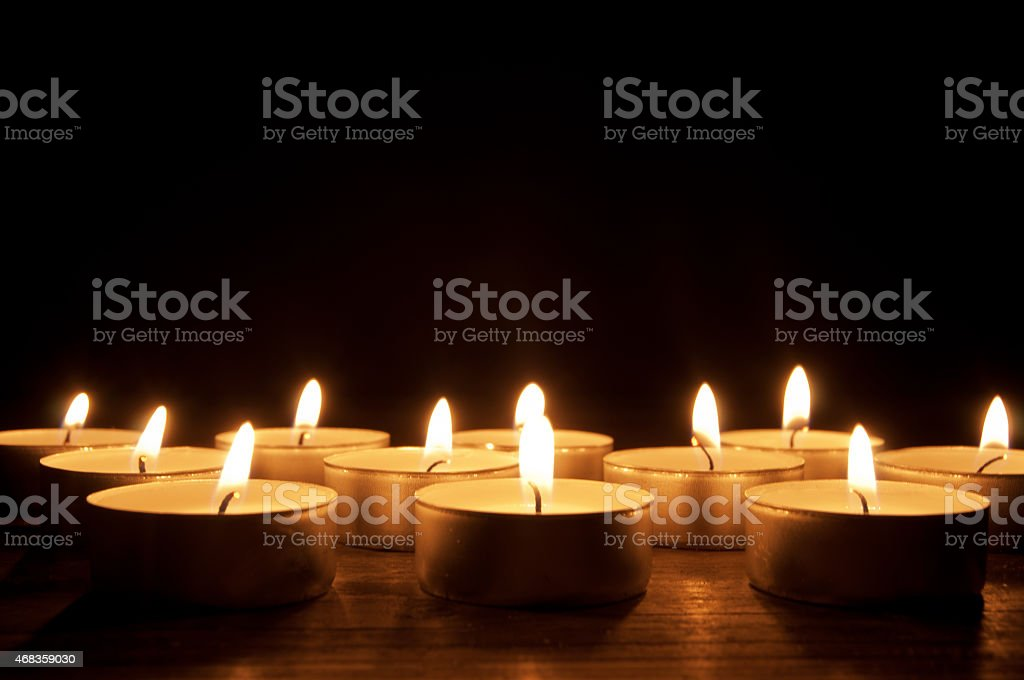 Lit candles royalty-free stock photo