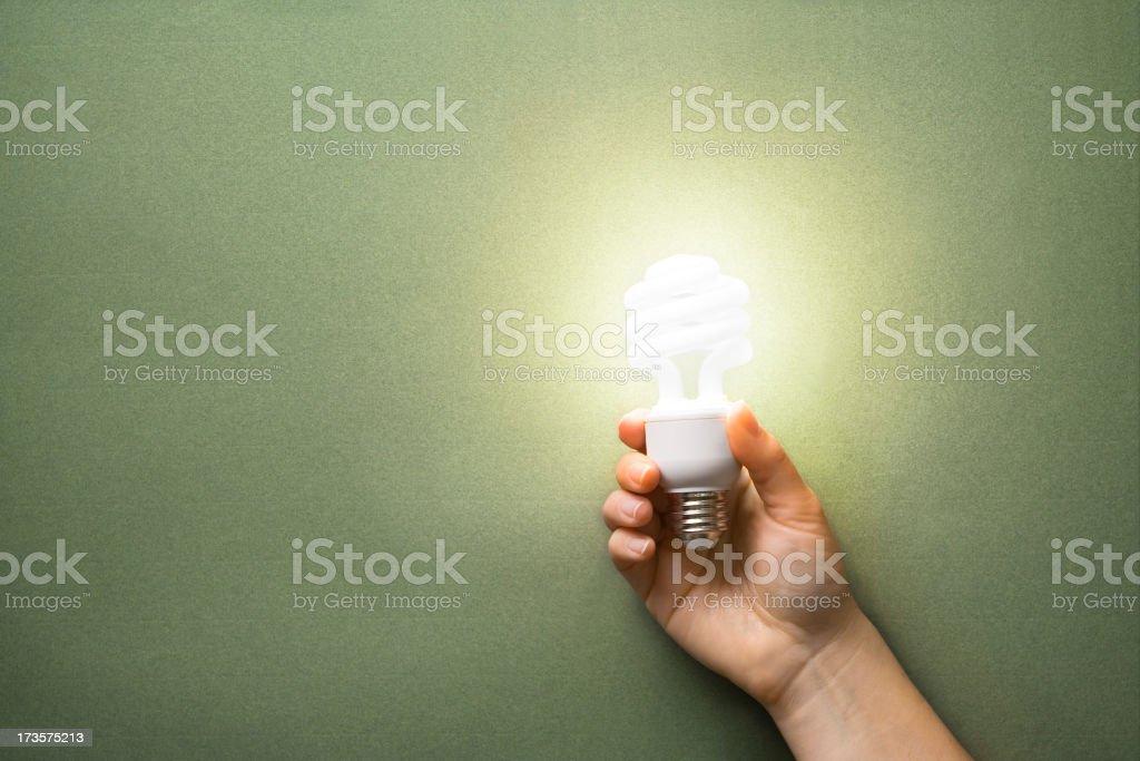 Beleuchtete CFL-in-hand – Foto