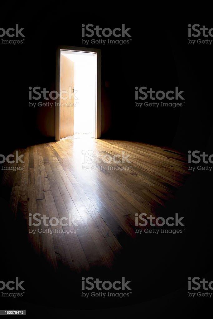 Lit doorway stock photo