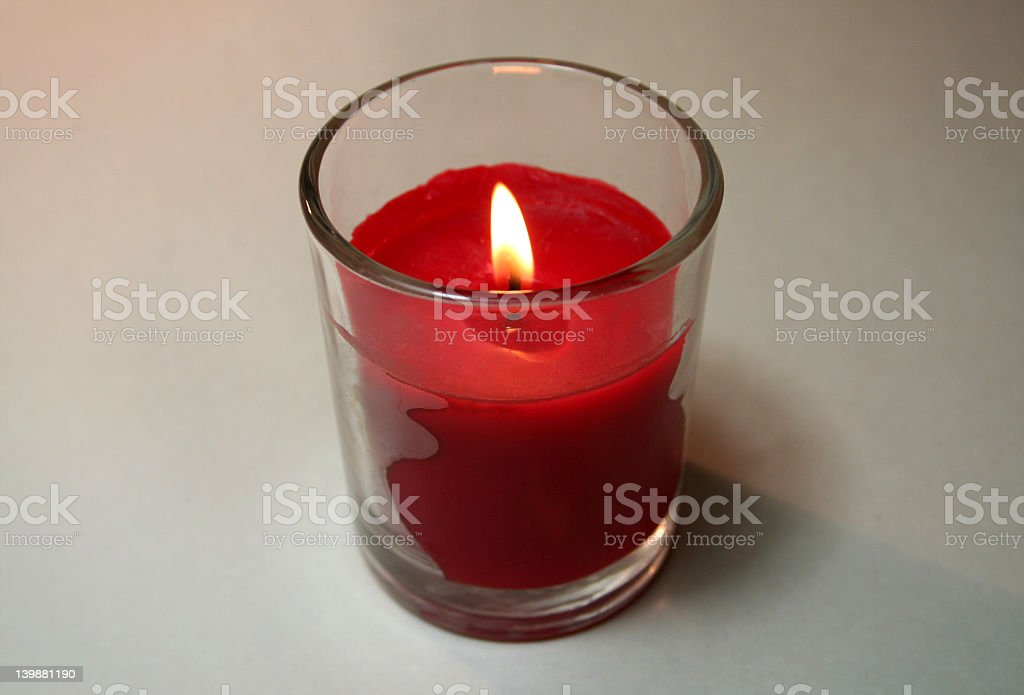 Lit Red Candle royalty-free stock photo