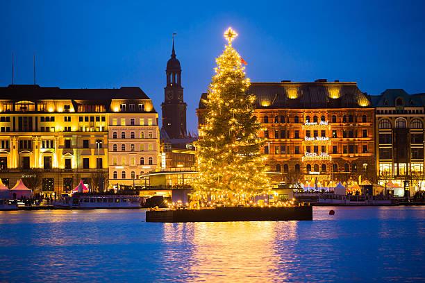 Christmastree auf dem Alstersee – Foto