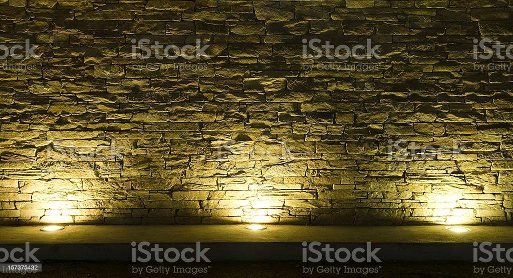 Lit wall royalty-free stock photo