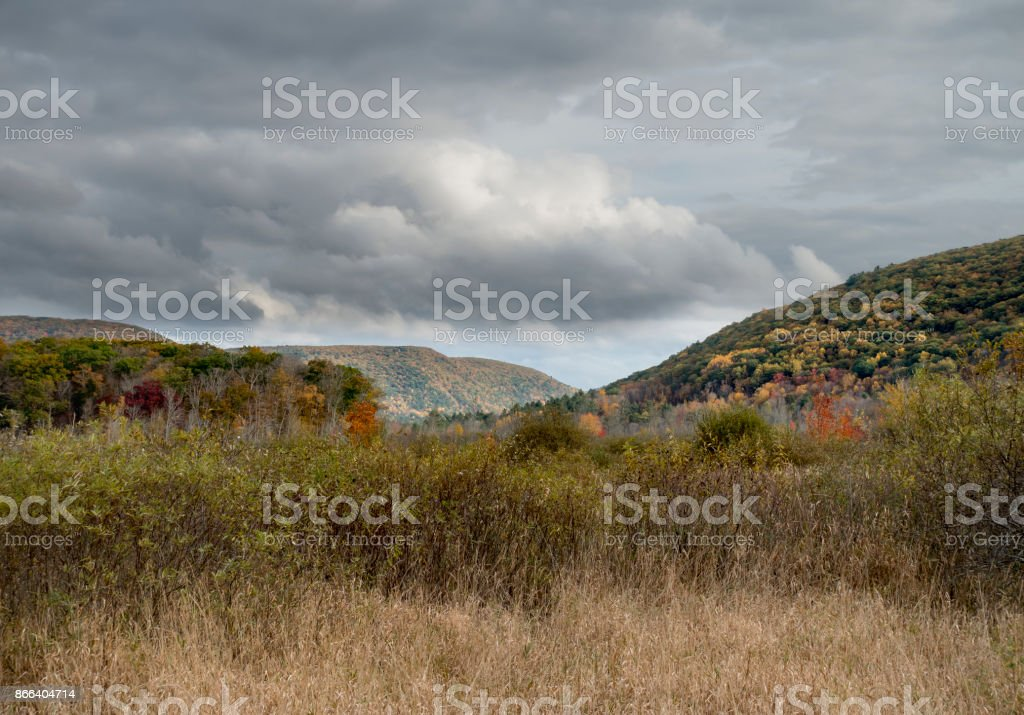 Litchfield Connecticut Hills in Autumn stock photo