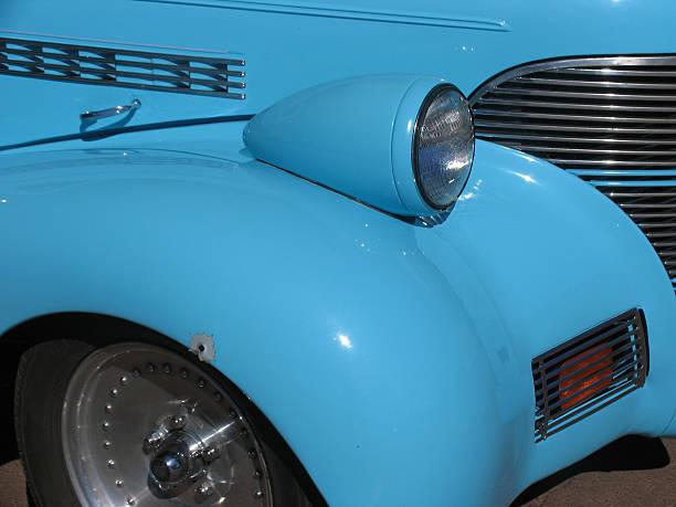 Lite auto blu - foto stock