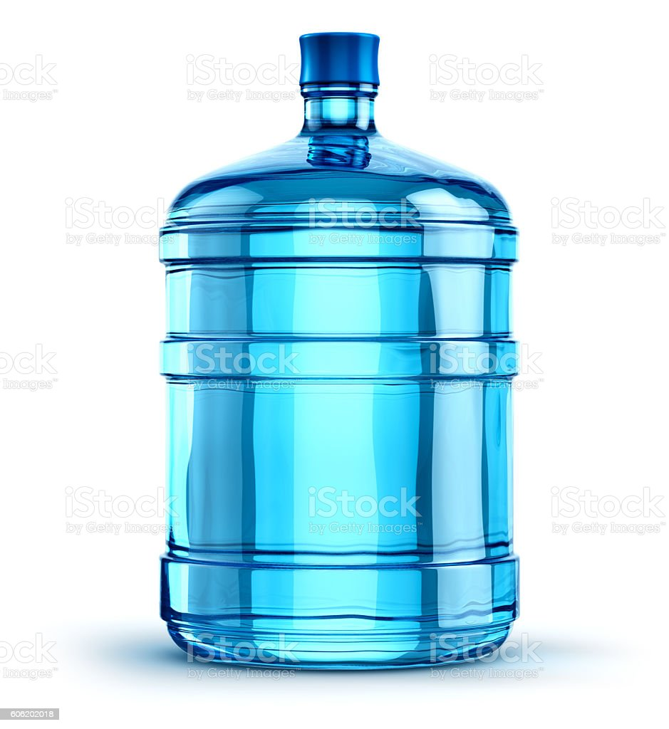 Water Bottle Graphic: Liter 19 Or 5 Gallon Plastic Drink Water Bottle Stock
