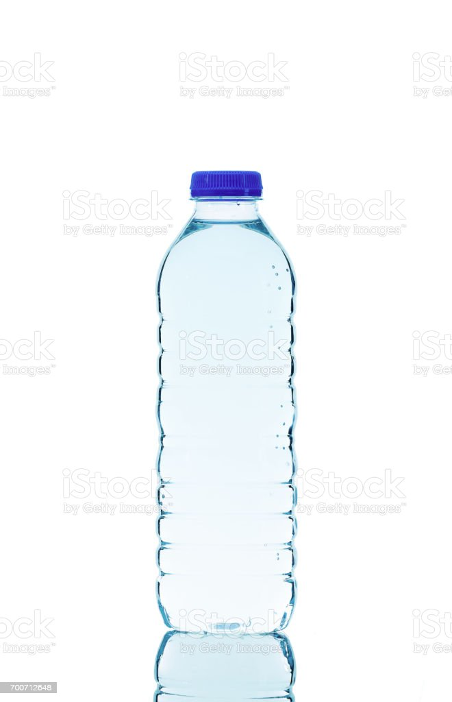 0.5 Liter water bottle isolated on white background. stock photo