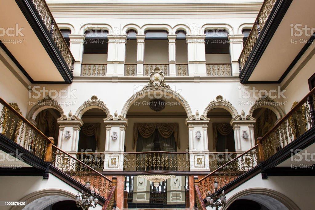 Literary cabinet entrance hall in Las Palmas city, Spain