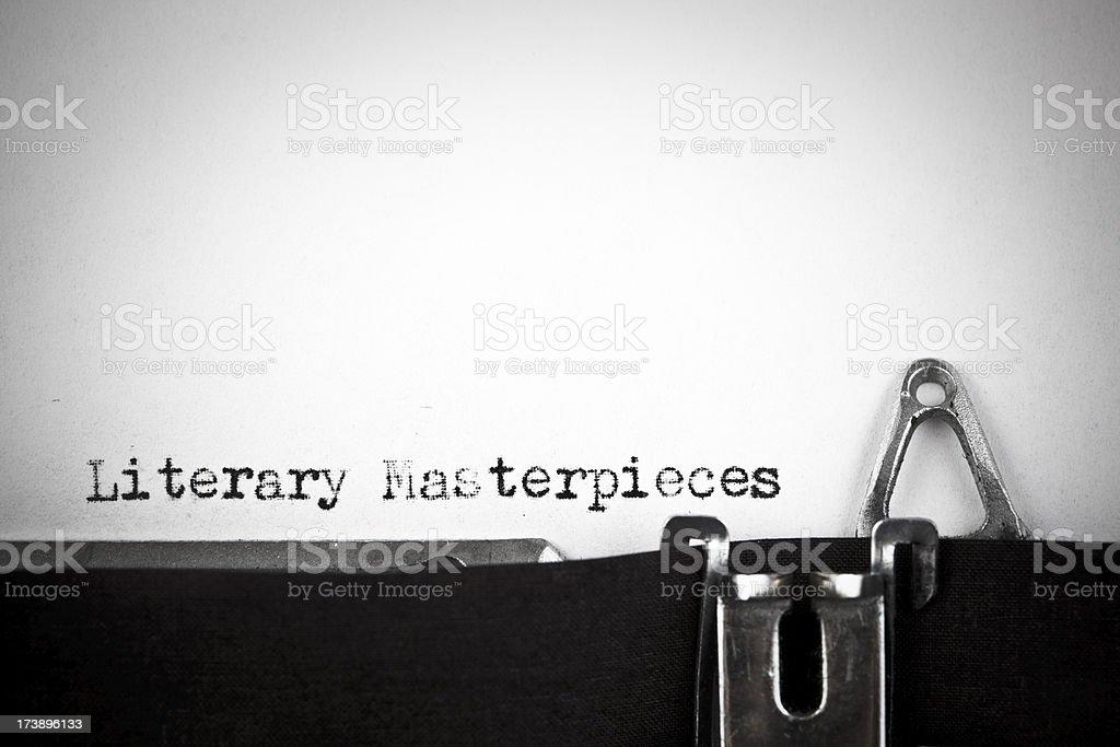 Literary Masterpieces royalty-free stock photo