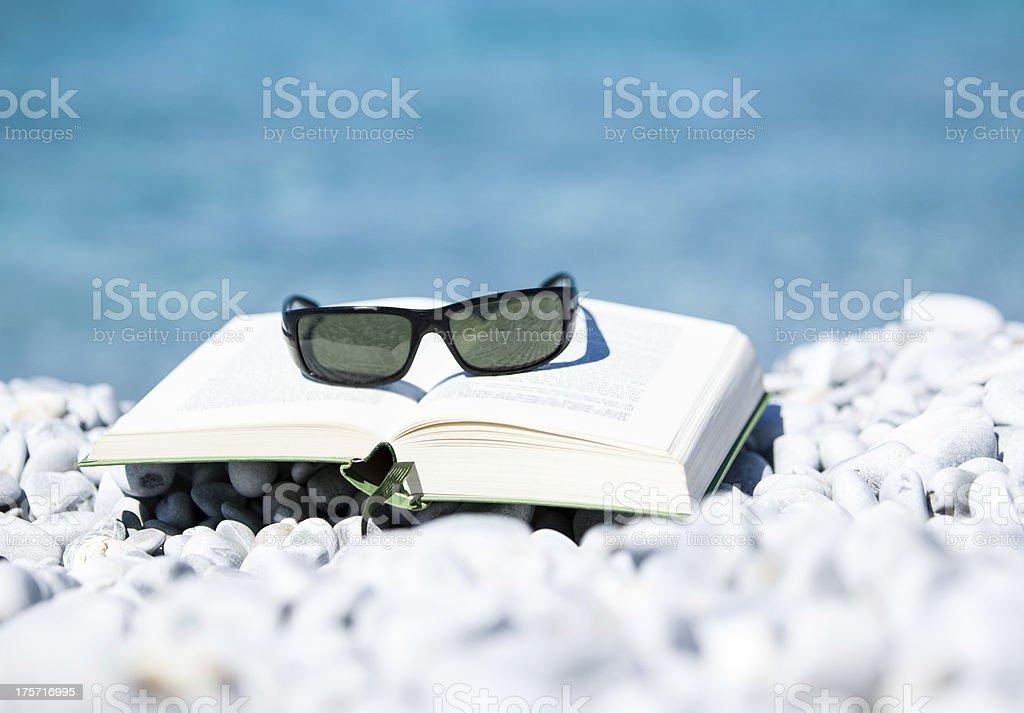 Literatur am Meer stock photo