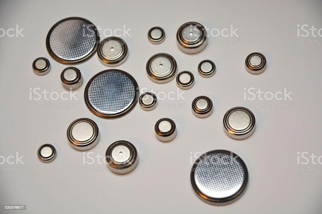Lithium batteries stock photo