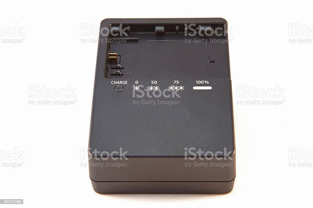 Lithium (Li) Chargeur de batterie isolé sur fond blanc photo libre de droits