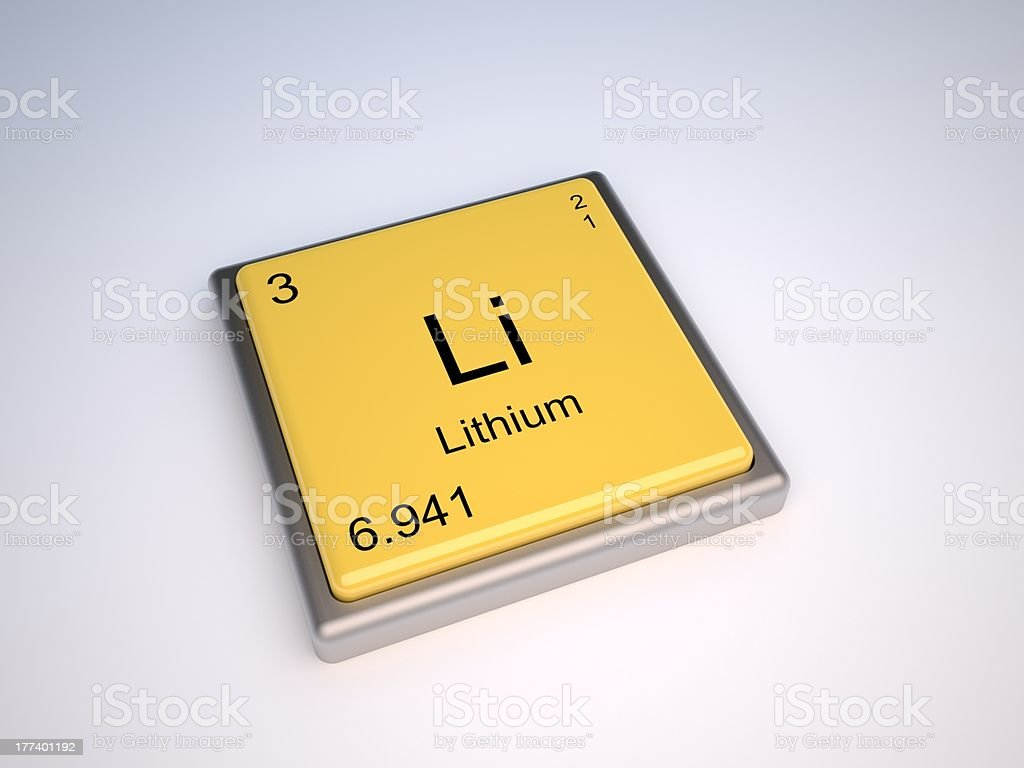 Lithium element royalty-free stock photo