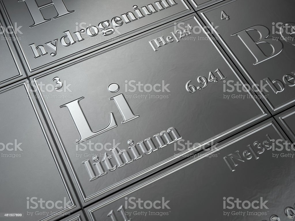 lithium stock photo