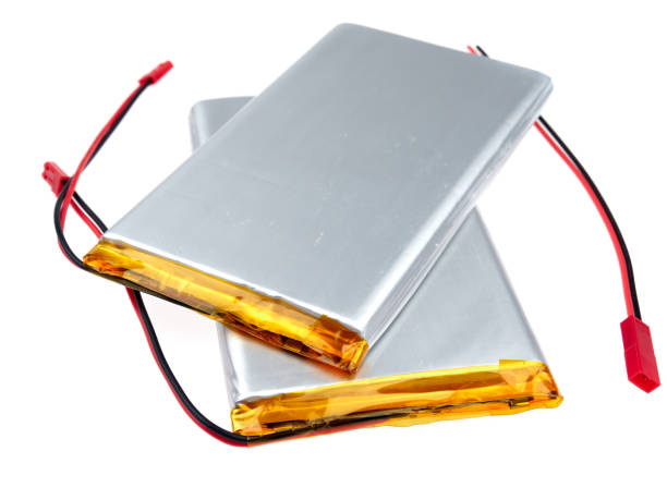 Lithium-ion polimer or LiPo batteries, isolated on white