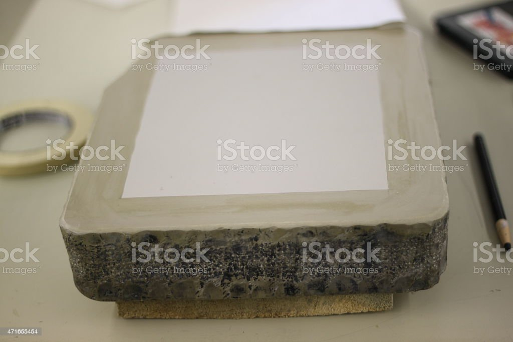 Lithographic stone stock photo