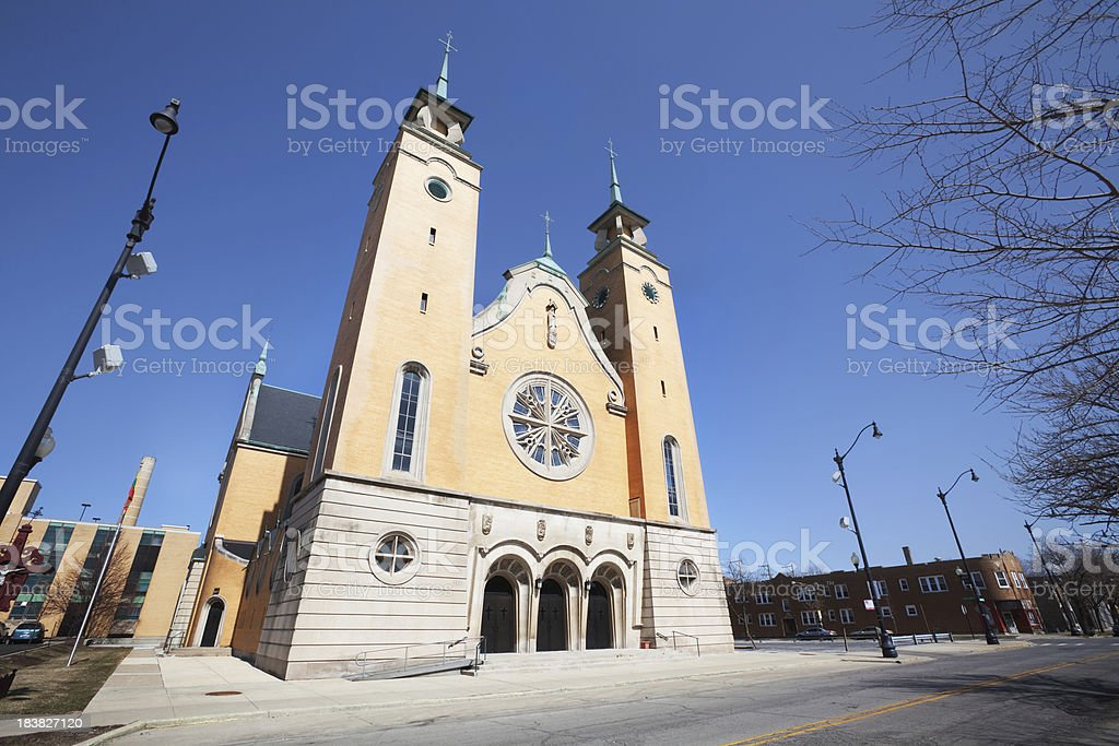 Lithuanian Church in Chicago royalty-free stock photo
