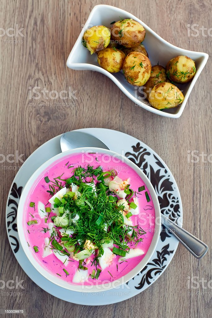 Lithuanian Cold Borscht royalty-free stock photo