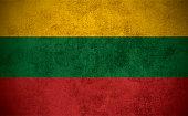 Grunge Lithuanian Flag.