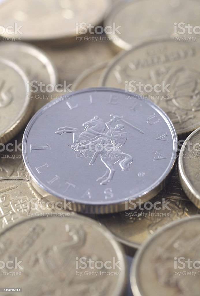 Lithuanian money royalty-free stock photo