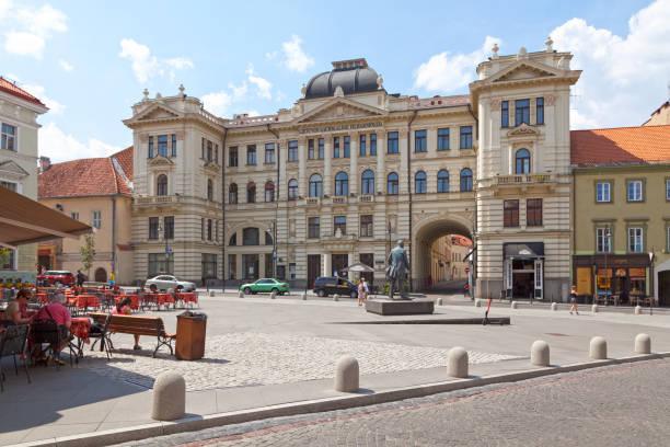 Lithuanian National Philharmonic Society in Vilnius stock photo
