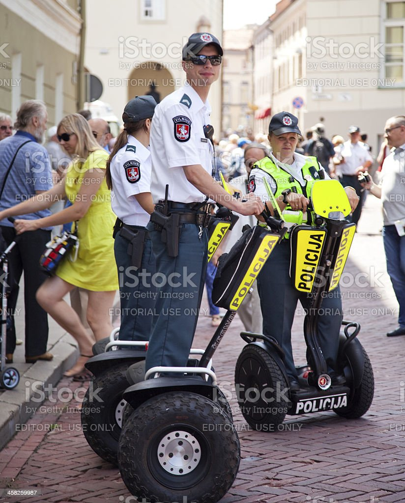 Lithuanian Police royalty-free stock photo