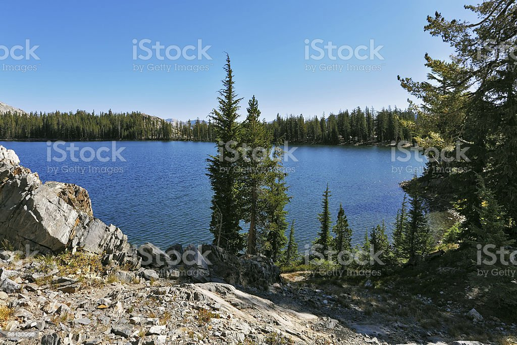 Litle mountains  lake in the USA royalty-free stock photo