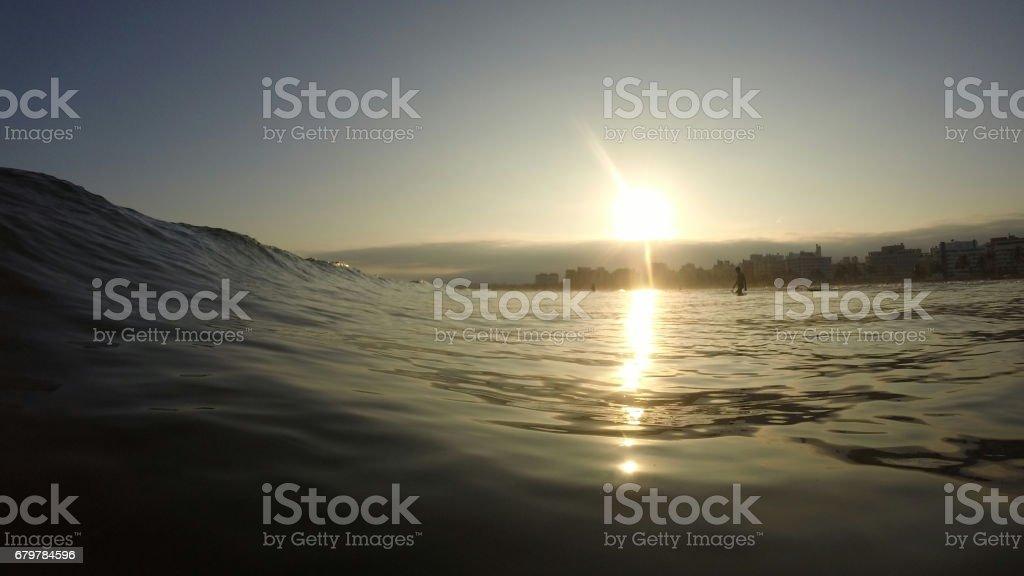 Litoral de dentro d'água stock photo