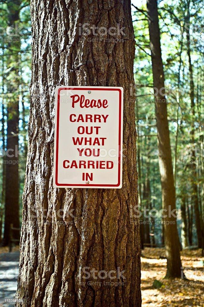 litter warning sign royalty-free stock photo