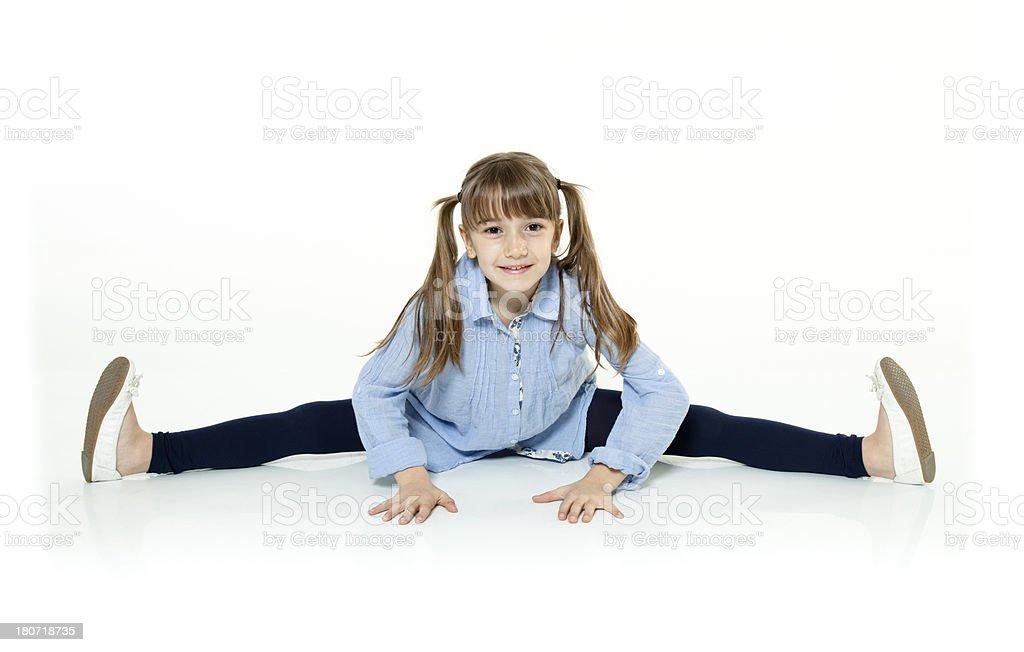 Litthegirl doing the Splits royalty-free stock photo