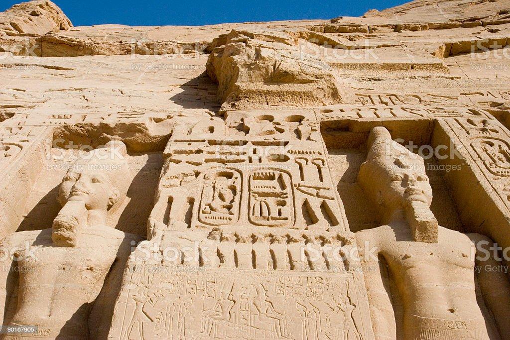 Little Abu Simbel stock photo