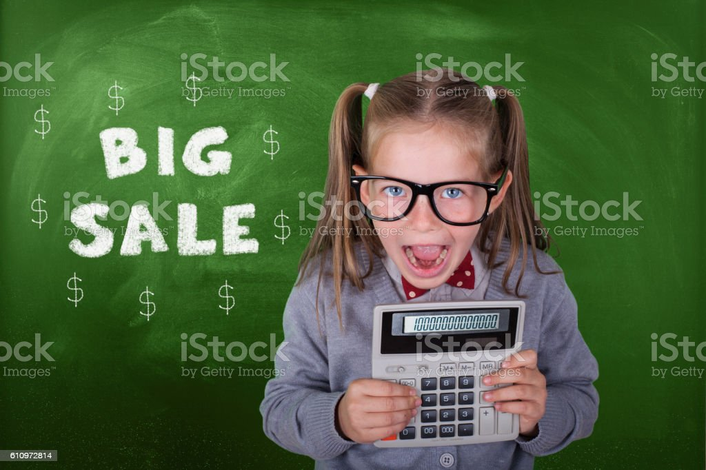 Little Accountant stock photo