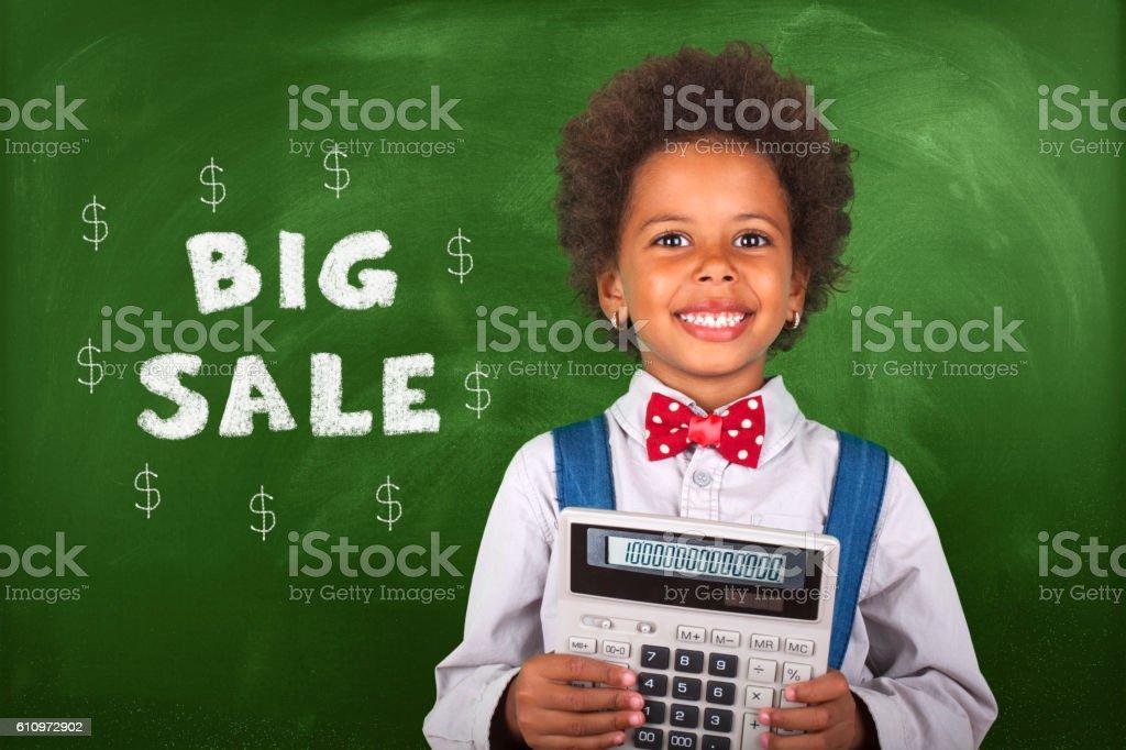 Little Accountant stock photo