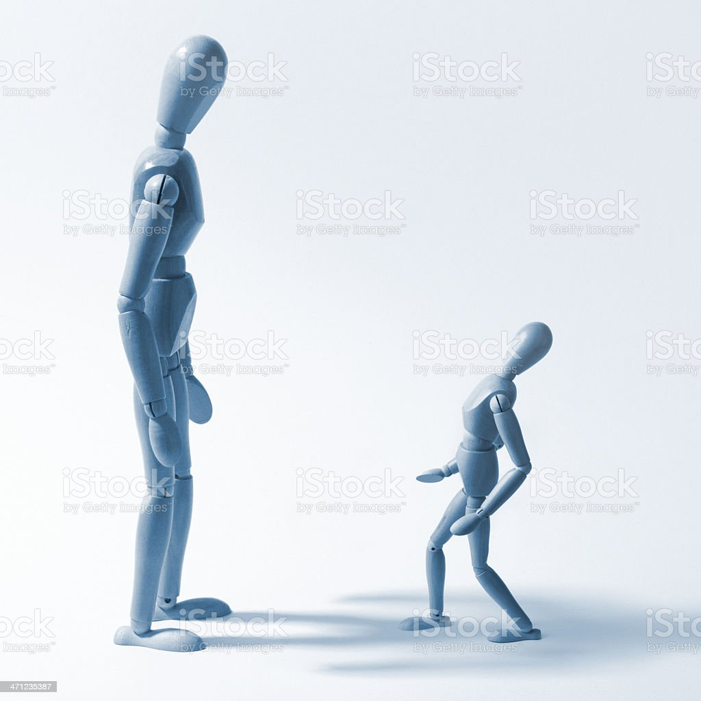 Little and Large royalty-free stock photo