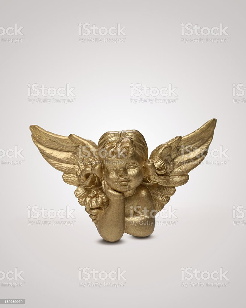 Little Angel (4 inches, all in focus) - cherub stock photo