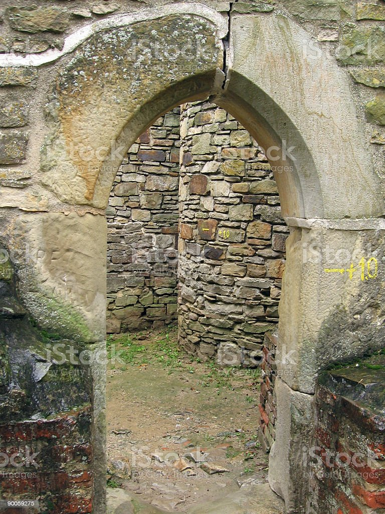 Little arc ruin royalty-free stock photo