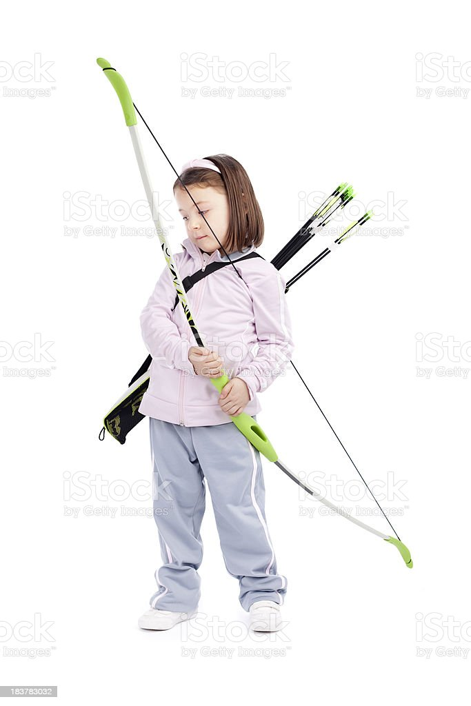 Little Archery Cute Girl royalty-free stock photo