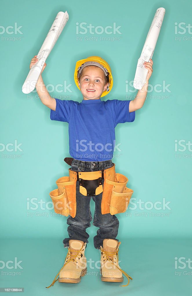 Little architect stock photo